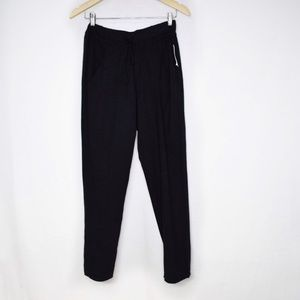 Stateside Black Tie Waist Cotton Pants Small NWT